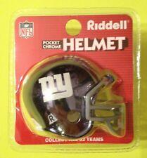 CHROME NEW YORK GIANTS RIDDELL POCKET PRO MINI HELMET Vtg RARE NFL Football New