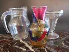 pichets coupe à glace en verre vintage design XXème CERAMIC by PN