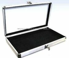 1 Wholesale Locking Aluminum Black Earring Display Organizer Storage Box Case