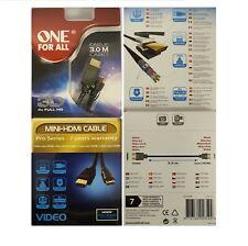 Premium Mini HDMI Cable v2.0 Gold High Speed HDTV UHD 18Gbps 1920p 4K@60hz 3D 3M