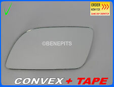 For VW POLO 2001-2004 Wing Mirror Glass  CONVEX + TAPE Left Side /1030 125