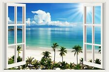 Wall decals Palm beach tropical wall stickers 3D window sea decal murals tree 78