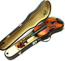 Old Antique 4/4 Full Size Violin Made in Szecho-Slovakia Szechoslovakia