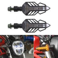 2tlg 1.5W Motorrad Gelb LED Blniker Blinklicht Singal 12V Wasserdicht Universal