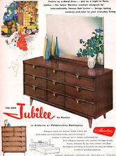 Bob Levine Jubilee Hooker Furniture MARDI GRAS Mid Century Modern 1958 Print Ad