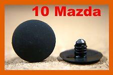 10 Mazda Sujetador Plástico Retenedor Aislamiento Capó Hood Clips