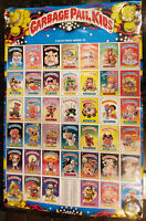 Garbage Pail Kids 1985 Topps OS1 Collector's Series 1B poster GPK EX cond 15-420