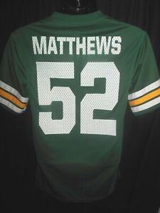 Green Bay Packers Clay Matthews #52 Men's NFL Apparel Jersey Shirt