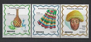 MEXICO - #1220-#1222 - MEXICAN CRAFTS MINT SET (1980) MNH
