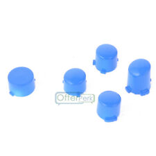 Polished Blue ABXY + Guide Buttons Parts Set for Xbox One Wireless Controller