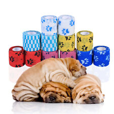 12pcs Pet Wound Vet /SPORT Cohesive Bandage Self Adherent Animals Wrap Tape AU