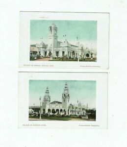 POSTCARDS TWO EARLY PRINTED CARDS OF THE FRANCO BRITISH EXHIBITION