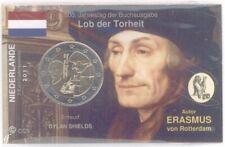 2 Euro Coincard / Infokarte Niederlande 2011 Erasmus