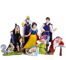 8x Queen Prince Princess Snow White & Dwarfs Figure Cake topper 4-9CM  Xmas Gift