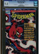 SPIDER-MAN SAGA #1 CGC 9.8 MINT WHITE PAGES 1991 1 OF 4 LIMITED SERIES BLUE LAB.