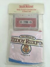 TEDDY RUXPIN GREATEST HITS PROMOTIONAL CASSETTE TAPE W/ BEACH BALL 1986 SEALED