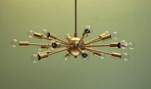 Modern Brass 18 Arm Classic sputnik chandelier light fixture Decorative and gift