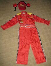 New Disney Store Cars Lightning McQueen Teen Costume & hat M Medium Car Racing
