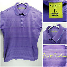 Robert Graham Classic Fit Mens Large Polo Shirt Purple