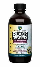 Amazing Herbs Black Seed 100% Pure Cold-Pressed Black Cumin Oil 4 oz
