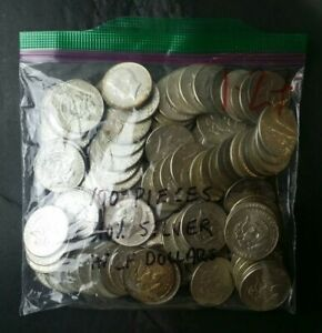 Lot of 100 50c Jefferson 40% Silver Half Dollars