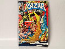 KA-ZAR The Savage #31 Marvel Comics 1984 VF- Shanna Zabu Savage Land