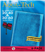 6 PACK Aqua-Tech EZ 20-40 30-60 Water Fish Tank-Change Aquarium Filter Cartridge