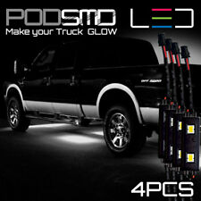 WHITE LED Underbody Glow Under Car Accent Rock Neon Light Kit Chevy Silverado