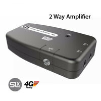2 Way TV Aerial Amplifier Signal Booster Digital Freeview indoor HD DAB FM Slx