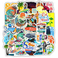 50pcs Surfing Stickers Decals Surf Water Vintage Coast VSCO Buy 2 Get 1 Free
