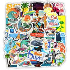 10pcs Surfing Stickers Decals Surf Water Vintage Coast VSCO Buy 2 Get 1 Free