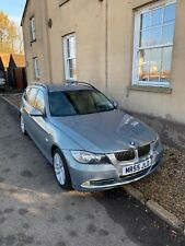 bmw 330d touring e91 2006, silver with black leather