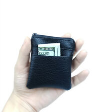 Luxury Men's Soft Leather Coin Purse Wallet Bag Change Pouch Key Card Holder