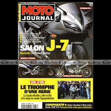 MOTO JOURNAL N°1486 HONDA VTX 1800 HARLEY 1130 V-ROD SUZUKI DL 1000 V-STROM 2001