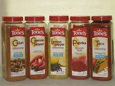 Tone's Seasoning Spice Lemon Pepper Cajun Taco Paprika Cayenne Bouillon Lot BN