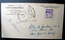 PANAMA CANAL ZONE POSTAL SERVICE OFFICIAL BUSINESS 1949
