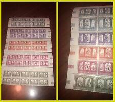 Vaticano 1966 Sacrum Poloniae Millennium 5 testate di foglio francobolli NUOVE