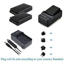 2X DB-L50 Battery +Charger for SANYO Xacti VPC-TH1 VPC-HD2000 VPC-WH1 VPC-FH1