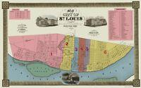 St Louis Missouri - Twichel 1844 - 23.00 x 36.78