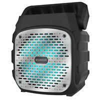 "Fully Amplified Portable 1000 Watts Peak Power 6"" Bluetooth Speaker SKY6 Silver"