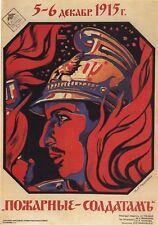 Russian World War 1 Poster Propaganda 1915 Helmet 11x8 Inches Reprint