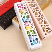 Macaron Paper Boxes Cookie Cake Box Wedding Party Gift Openwork Useful Gift~-