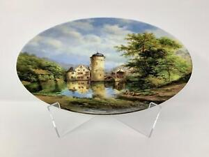 Tettau Porcelain Limited Edition Plate, Moated Castles, Eleonore Guinther, 1988