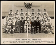 1946-47 Toronto Maple Leafs Team World Champions Hockey 8x10 Photo Apps Broda