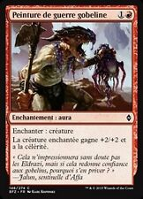 MTG Magic BFZ FOIL - Goblin War Paint/Peinture de guerre gobeline, French/VF
