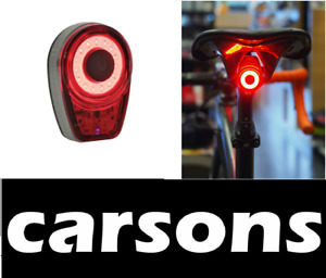 rear USB rechargeable red light - moon bike lights bright aluminium tail CARSONS