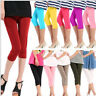Slim Fit Women Ladies Stretch Leggings Yoga Gymnastics Cropped Trousers Pants