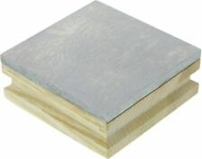 """Steel Bench Block Jewelers Metal Anvil Square Solid 3""""x3""""x1/4"""" with Wooden Base"""