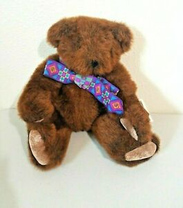 1994 The Vermont Teddy Bear Co. Brown Jointed Bear w/Bow Stuffed Plush w/Tag 16""