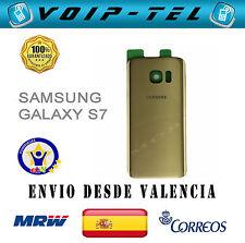 TAPA TRASERA BATERÍA SAMSUNG GALAXY S7 G930F COLOR DORADO ORO BACK COVER GOLD